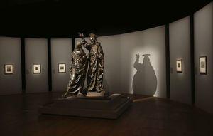 Normal t leonardo da vinci exhibition andrea del verrochio  christ and saint homas 2 c musee du louvre antoine mongodin